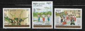 Cambodia 912-14 Dance Mint NH