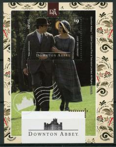 Nevis 2014 MNH Downton Abbey Lady Sybil Crawley 1v S/S TV Series Stamps
