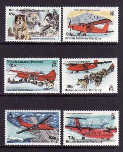 British Antarctic Territory-Sc#218-23-unused NH set-Ships-Planes-1994-