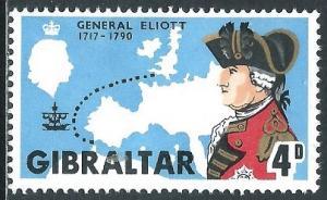 Gibraltar, Sc #205, 4d MH