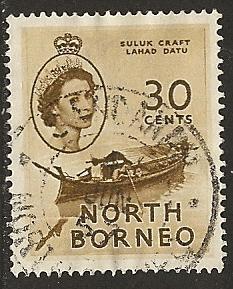 North Borneo  USED  S.C. #  270
