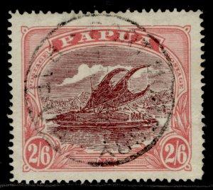 AUSTRALIA - Papua GV SG103, 2s 6d maroon & pale pink, FINE USED. Cat £40. CDS