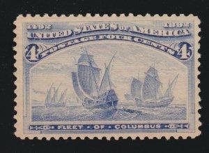 US 233 4c Columbian Exposition Mint VF OG LH SCV $50