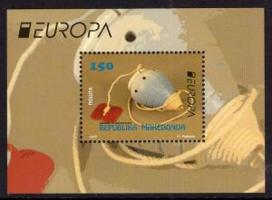 Macedonia 690 Europa Souvenir Sheet MNH VF