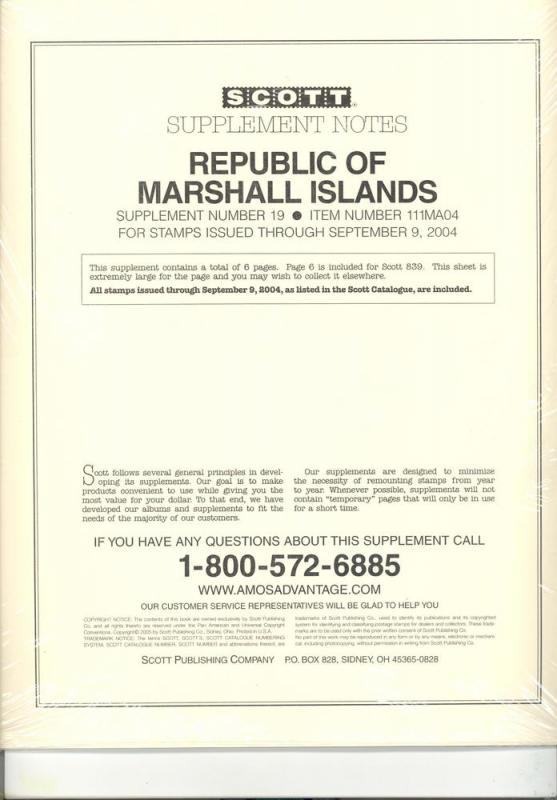 Marshall Islands Supplement # 19