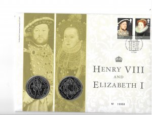 GB 2653-58  2009  comm  cover w/ two  5lb coins