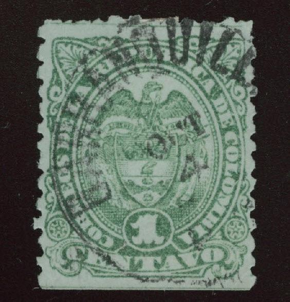 Colombia Scott 129 Used 1886