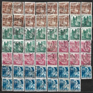 COLLECTION LOT OF 55 GERMANY  RHINE PALATINATE 1948+ STAMPS CLEARANCE CV+ $22