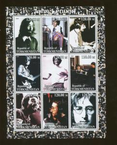 Turkmenistan John Lennon Commemorative Postage Stamp Souvenir Sheet