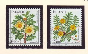 Iceland Sc 586-7 1984 Flowers stamp set used