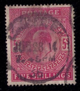 Great Britain  Sc #140 Used 5 shillings Very Fine