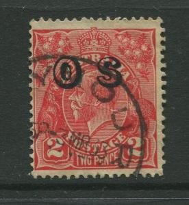 STAMP STATION PERTH: Australia  #O8 Used 1932 Single 2p Stamp