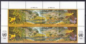 United Nations #636a  MNH  Inscription Block CV $8.50 (A18824L)
