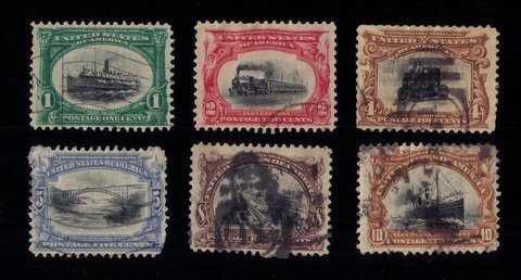 US Scott #294-99 A Complete Set Of Six Used F-VF