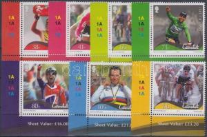 GB Isle of Man stamp Mark Cavendish rider set MNH 2012 Mi 1785-1791 WS151642