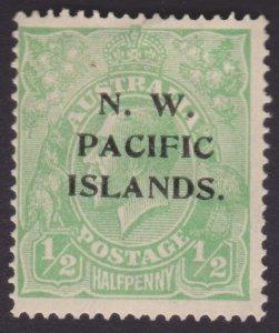Half pence KGV Green - NORTH WEST PACIFIC ISLANDS OVERPRINT - UNUSED OG