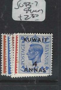 KUWAIT   (P2804B) ON   GB  KGVI   SG 93-7, 99  MOG