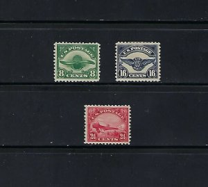 C4-C6 MINT SINGLES WITH HINGE REMNENTS - SCV $142.50 - W22
