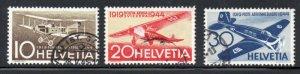 Switzerland Sc C37-9 1944 25th Anniversary Airmail stamp set  used
