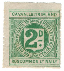 (I.B) Cavan Leitrim & Roscommon Light Railway : Letter Stamp 2d