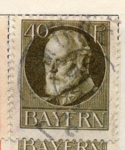 Bavaria 1913 Early Issue Fine Used 40pf. 109383