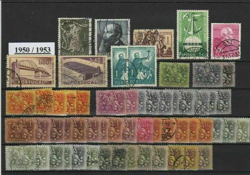 Portugal 1950-1953 Stamps Ref 24706