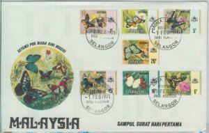 82302 - MALAYA  - FDC Cover 1971 + INFORMATION LEAFLET butterflies MELAKA
