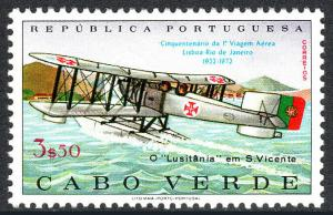 Cape Verde 362, MNH. Lisbon-Rio de Janeiro flight. Lusitania landing, 1972