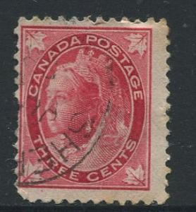 Canada - Scott 69 - Queen Victoria - 1897 - Used - Single 3c Stamp