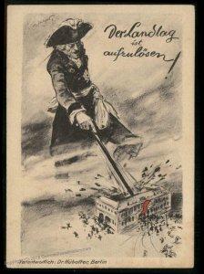 Germany 1920s Anti-Communist Stahlhelm Propaganda Card Close the Landtag V 92896