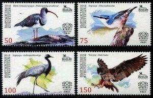 HERRICKSTAMP NEW ISSUES KYRGYZSTAN-KEP Sc.# 80-83 Birds 2018
