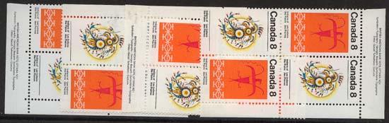 Canada USC #565a Mint 1972 Plains Indians MS of Imprint Blocks VF-NH