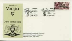 1986 Venda Ameripex 86 Chicago Platysaurus 138 Date Card