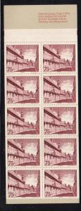 Sweden Sc 1040a 1974 75 ore Ystad  stamp bklt of 10 mint NH