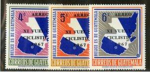 GUATEMALA C411-3 MNH SCV $2.40 BIN $1.25