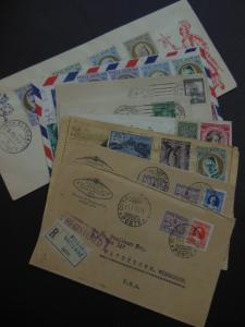 VATICAN : Very nice grouping of 8 Postal History items.
