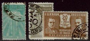 Brazil SC#312-313, 343 Used F-VF...Worth a Close Look!