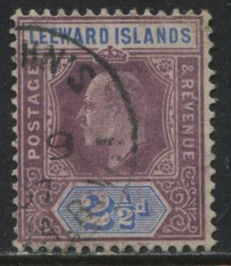 Leeward Islands KEVII 1905 2 1/2d violet & ultra used