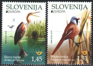 Slovenia. 2019. Birds, Europe-Sept. MNH.
