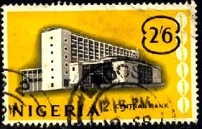 Central Bank, Lagos, Nigeria stamp SC#110 used