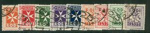 ITALY RHODES #J1-9 Complete Postage Due set, used, VF, Scott $108.50
