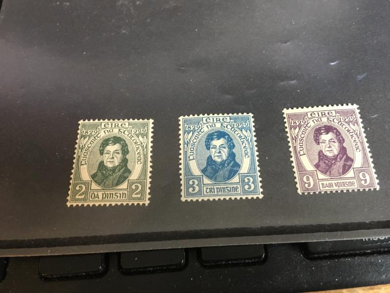Ireland 2015 Scott #80-82 Mint F-VF-NH Cat. $32. 1929 O'Connell Complete Set