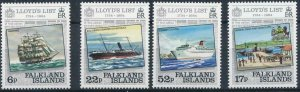 Falkland Islands 1984 #404-7 MNH. Ships