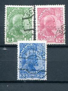Liechtenstein #1-3 Used  VF -  Lakeshore Philatelics