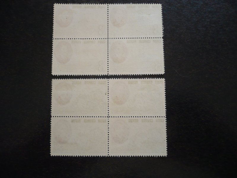 Stamps - Cuba - Scott# C127-C128 - Mint Hinged Set of 2 Stamps in blocks
