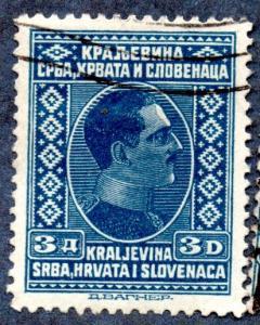 Yugoslavia Scott #45 3d King Alexander (1926) Used