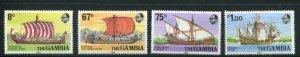 Gambia MNH 413-6 Sailing Ships 1980