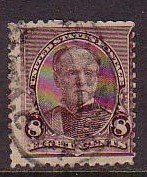 USA Sc 225 1893 8 c Sherman stamp used