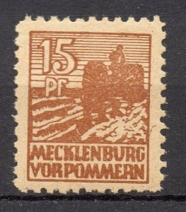 Germany Mecklenburg Vorpommern 1946 Early Issue Fine Mint Hinged 15pf. NW-05738