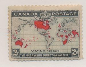 Canada Stamp Scott #85, Mint Hinged, Creases - Free U.S. Shipping, Free World...